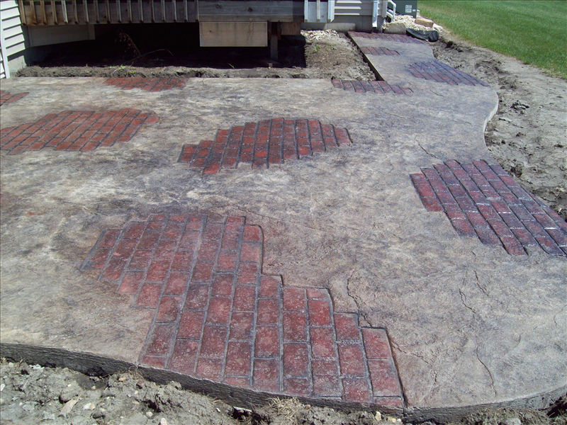 Stamped Concrete Siding : Stamp concrete stamped walkways